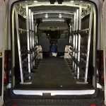 Model 550A Racks in Ford Transit (Medium Roof)