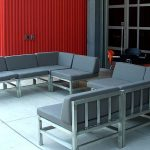 Aluminum Chairs built for the Harley Davidson Museum