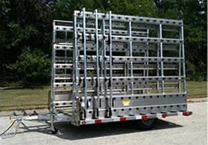 Barkow Aluminum Glazing Trailer.